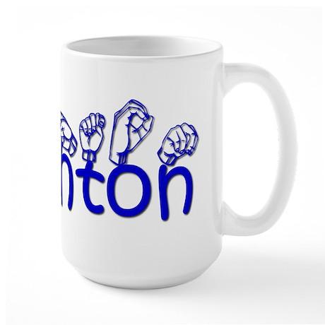 Ashton in ASL Large Mug