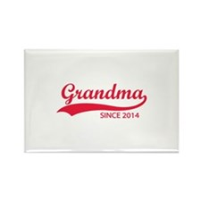 Grandma since 2014 Rectangle Magnet