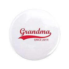 """Grandma since 2014 3.5"""" Button"""