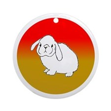White Rabbit at Sunset Ornament (Round)