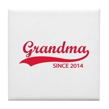 Grandma since 2014 Tile Coaster