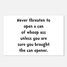 Can Opener Whoop Ass Postcards (Package of 8)