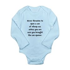 Can Opener Whoop Ass Long Sleeve Infant Bodysuit