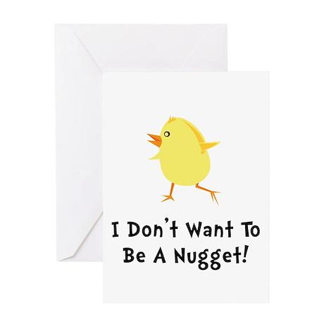 Chicken Nugget Greeting Card