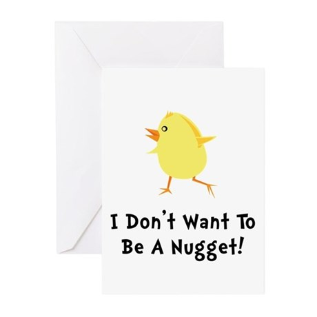 Chicken Nugget Greeting Cards (Pk of 10)