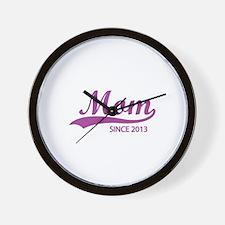Mom since 2013 Wall Clock