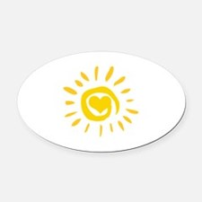 Sun Oval Car Magnet