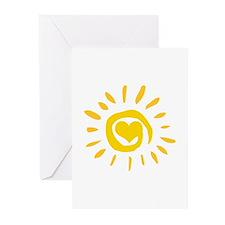 Sun Greeting Cards (Pk of 10)