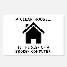 Clean House Broken Computer Postcards (Package of