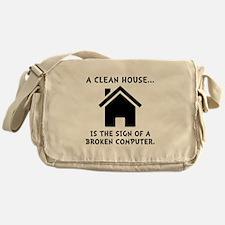 Clean House Broken Computer Messenger Bag