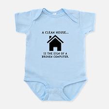 Clean House Broken Computer Infant Bodysuit