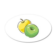 Apple 22x14 Oval Wall Peel
