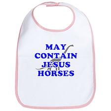 May Contain Jesus Horses Bib