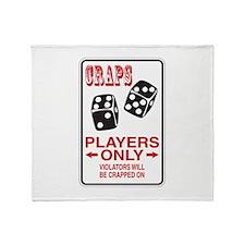 Craps Sign Throw Blanket