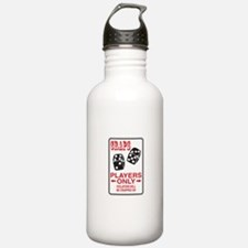 Craps Sign Water Bottle