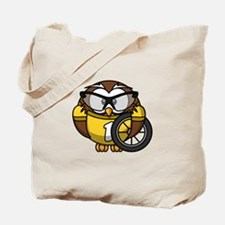 Cyclist Owl Tote Bag