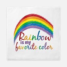 Rainbow Favorite Color Queen Duvet
