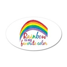 Rainbow Favorite Color Wall Decal