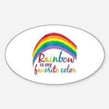 Rainbow Favorite Color Sticker (Oval)