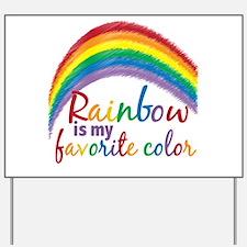 Rainbow Favorite Color Yard Sign