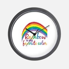 Rainbow Favorite Color Wall Clock