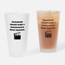 Documentary Injustice Drinking Glass