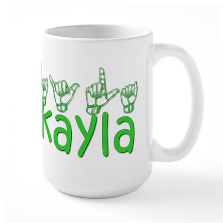 Mikayla in ASL Large Mug