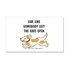 Dog Gate Open Car Magnet 20 x 12