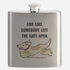 Dog Gate Open Flask