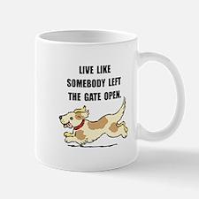 Dog Gate Open Small Small Mug