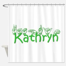 Kathryn in ASL Shower Curtain