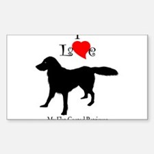 Flat Coated Retriever Rectangle Decal