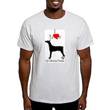 Doberman Pinscher Ash Grey T-Shirt