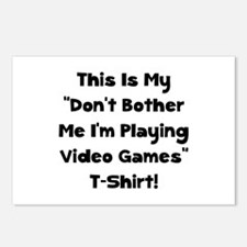 Don't Bother Me Video Games Postcards (Package of