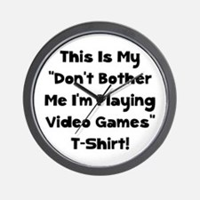 Don't Bother Me Video Games Wall Clock