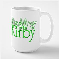 Kirby in ASL Large Mug
