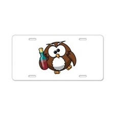 Drunk Owl Aluminum License Plate