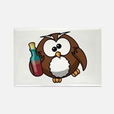 Drunk Owl Rectangle Magnet (10 pack)