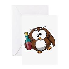 Drunk Owl Greeting Card