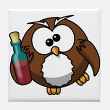 Drunk Owl Tile Coaster