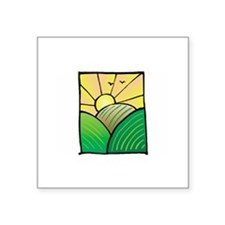 "Sun Square Sticker 3"" x 3"""