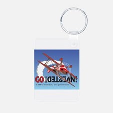 Colored Biplane Design Keychains