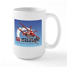 Colored Biplane Design Mug