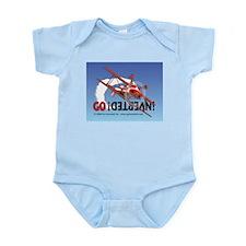 Colored Biplane Design Infant Bodysuit