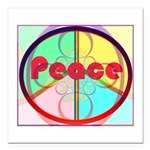 Abstract Peace Sign Square Car Magnet 3