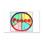 Abstract Peace Sign Rectangle Car Magnet