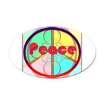 Abstract Peace Sign Oval Car Magnet