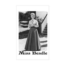 Miss Beadle (full length) Rectangle Decal