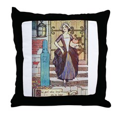 The Girl Who Trod on the Loaf Throw Pillow