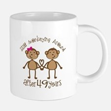 49th Anniversary Love Monkeys Mugs